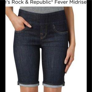 Rock & Republic NWOT Denim Rx Fever pull on shorts